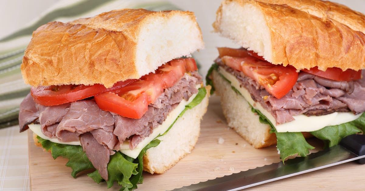 Roast Beef Sandwiches with Roasted Bone Marrow