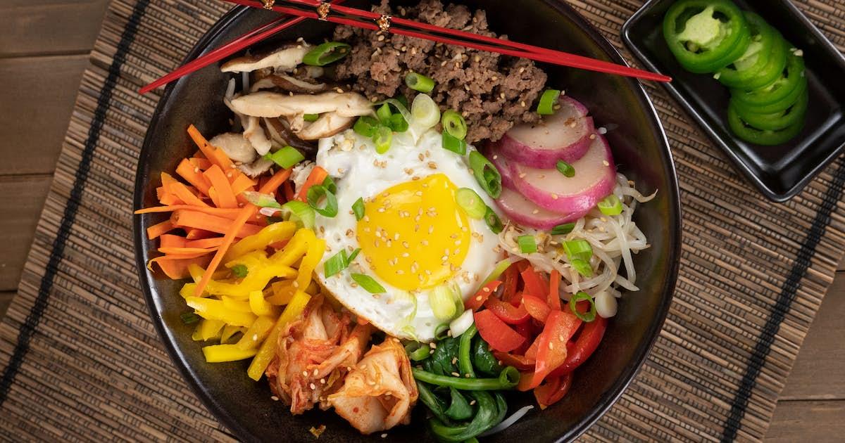 Ground Beef Korean Bibimbap
