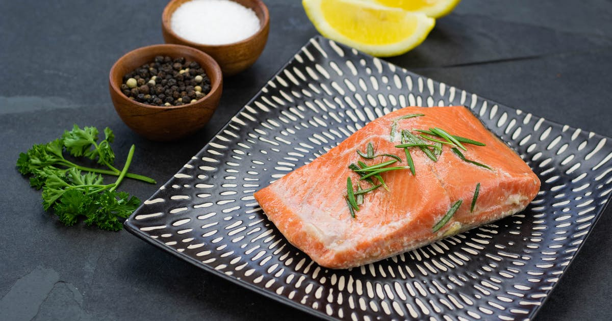 Simple Sous Vide Salmon with Lemon