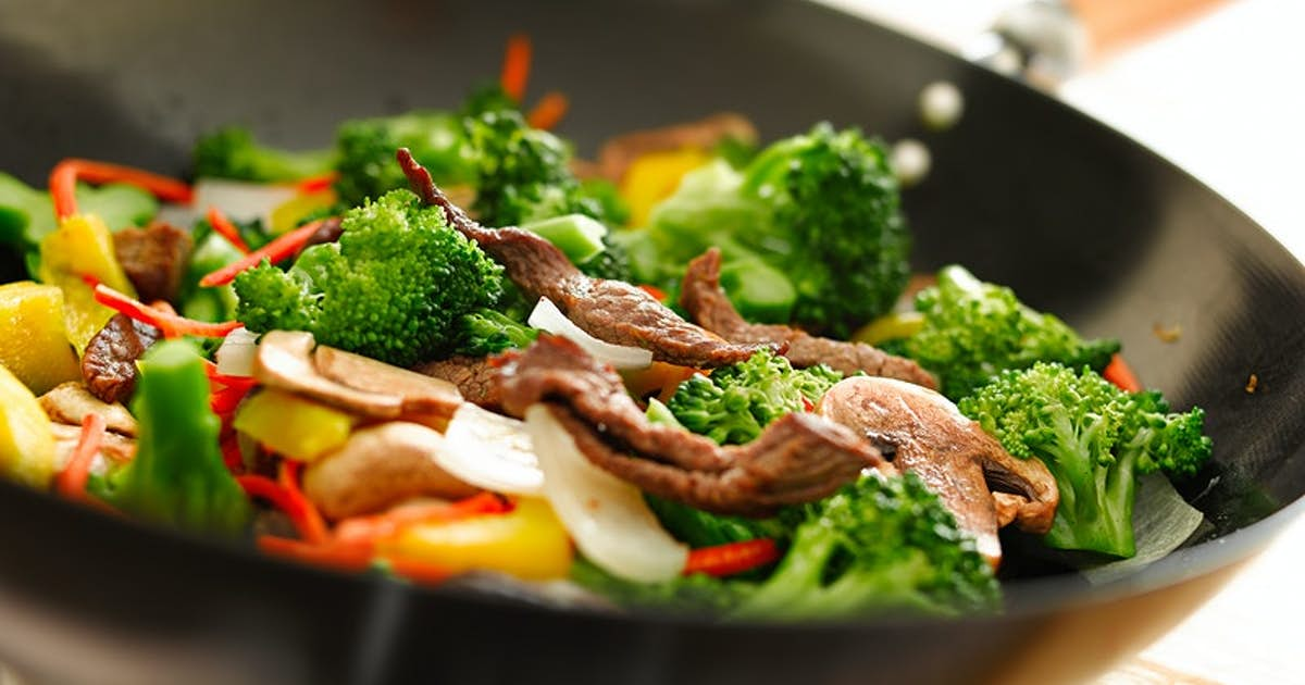 Stir Fried Flank Steak with Mixed Vegetables