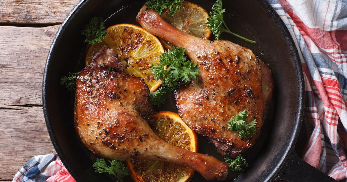 Roasted Duck Legs with Citrus Glaze