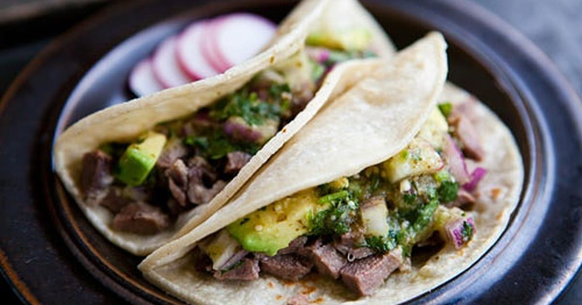 Slow-Cooker Beef Tongue Tacos