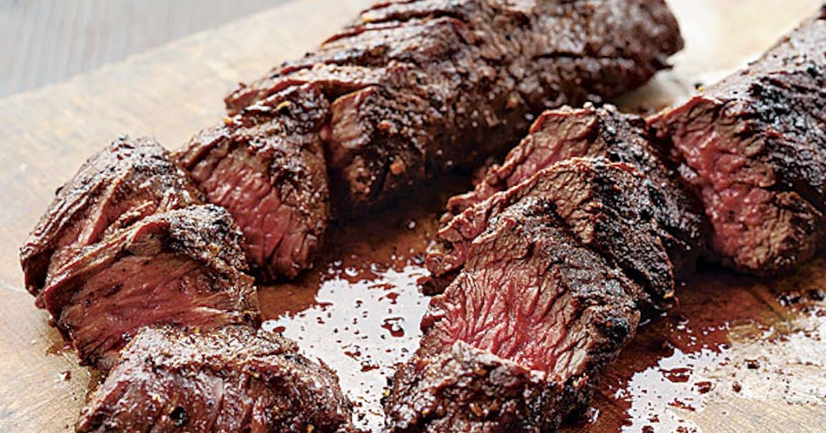 Garlic Marinated Hanger Steak