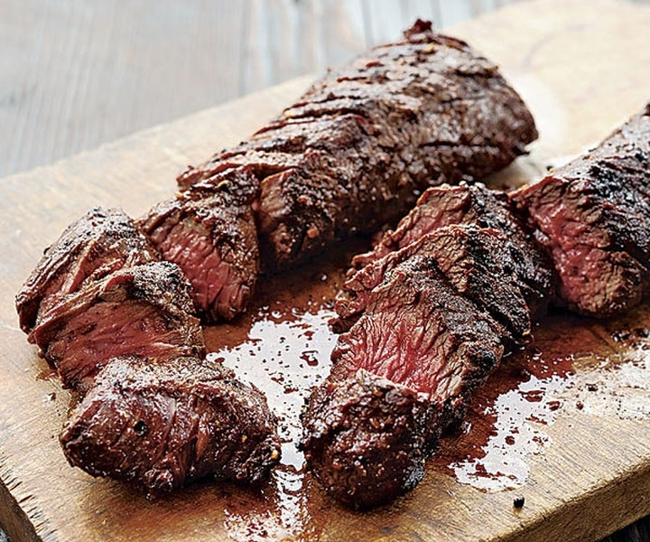 Garlic Marinated Hanger Steak