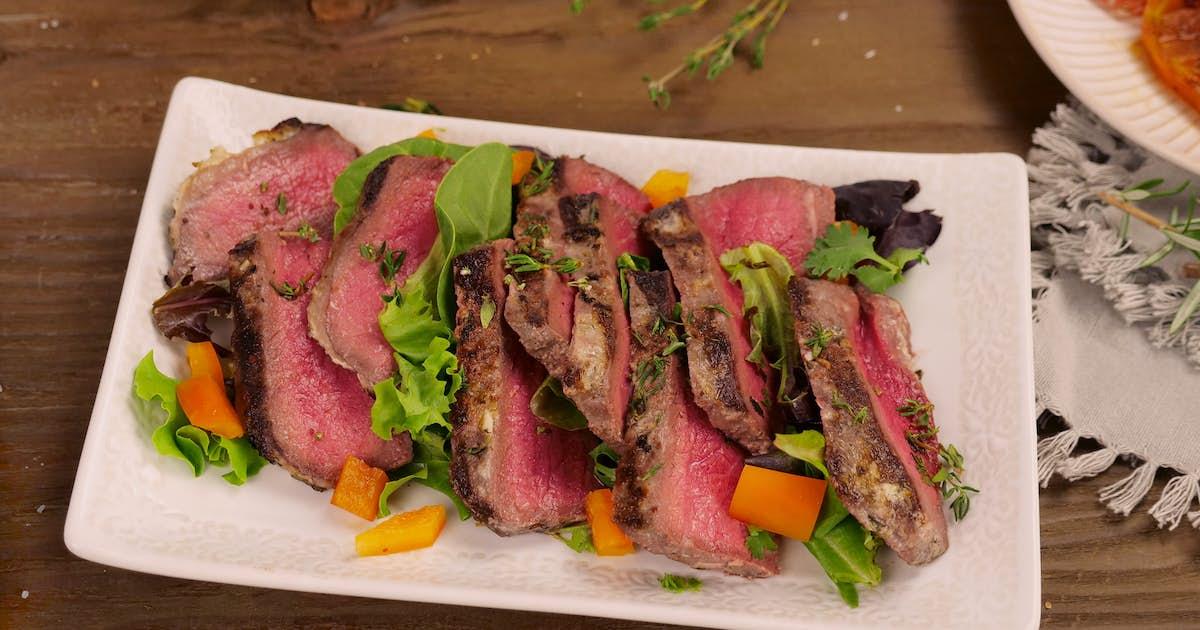 Mayo-Crusted Round Steak