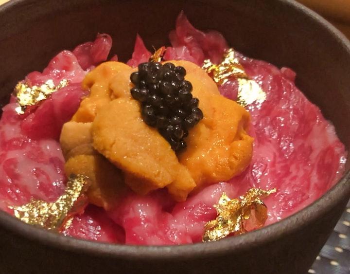 Oo no Gyu Sashi Don (王の牛刺し丼) at KOSO in Ginza, Tokyo, Japan