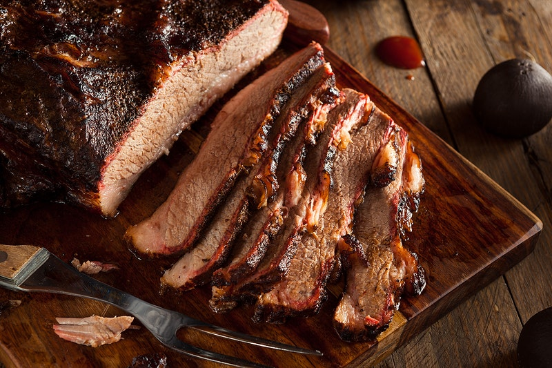 Smoked Brisket With Peppercorn Crust