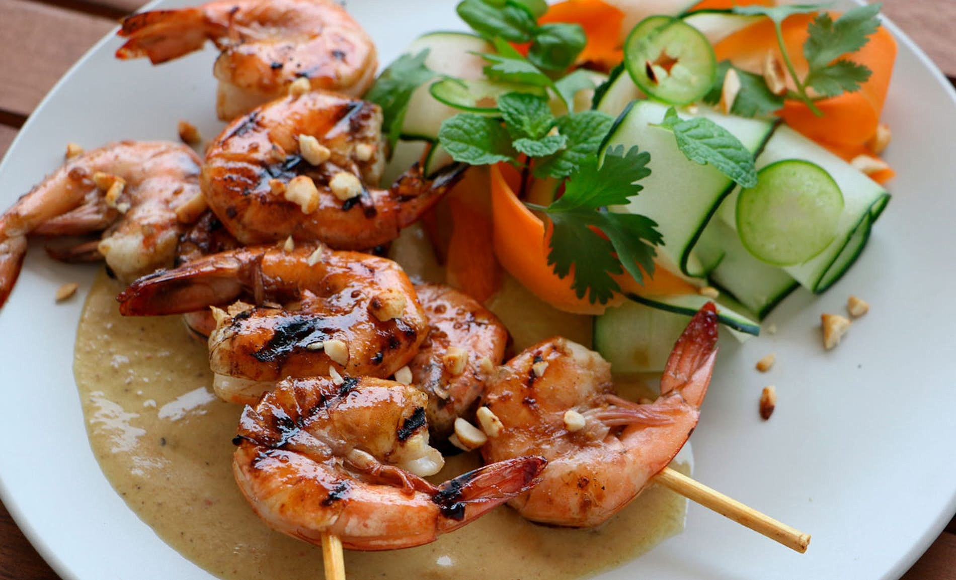 Shrimp with Coconut Green Thai Curry
