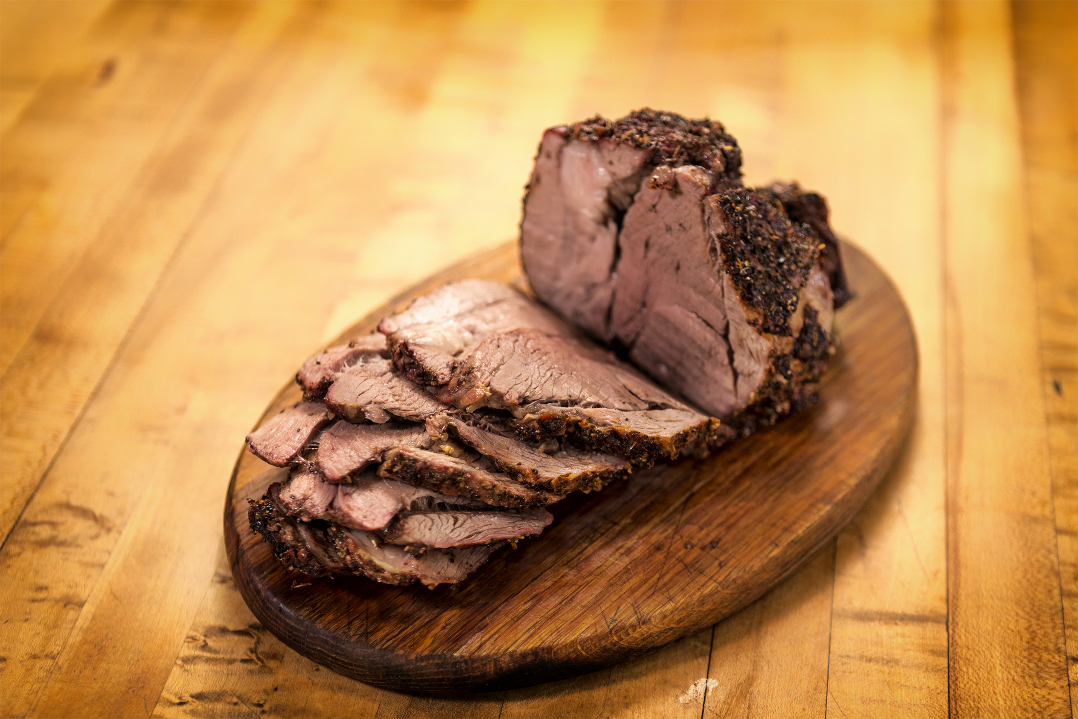 Herb-Rubbed Roasted Boneless Leg of Lamb