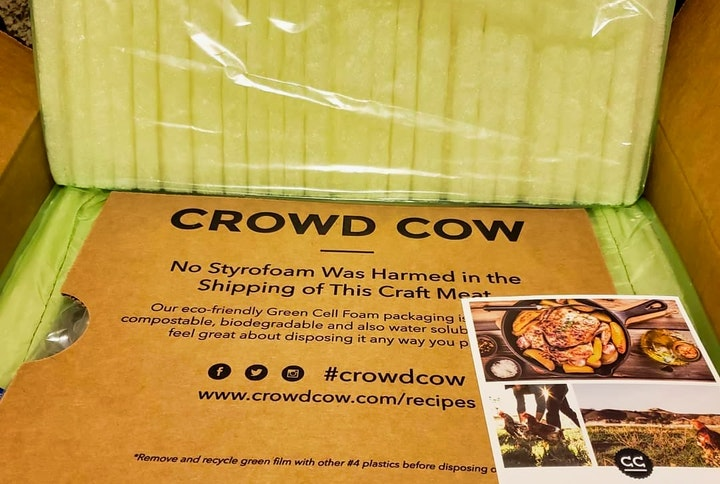 Truly eco-friendly packaging from Crowd Cow