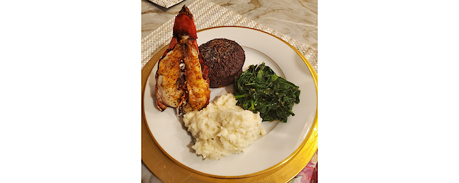 Classic Surf & Turf with Sautéed Spinach