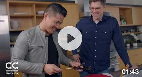 Nelson Yong and Joe Heitzeberg taste Olive Wagyu!