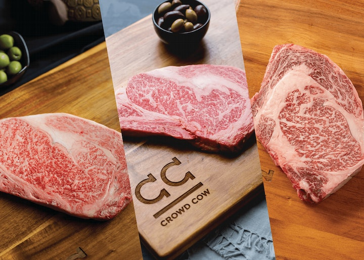 A5, A4, A3 cuts of Olive Wagyu