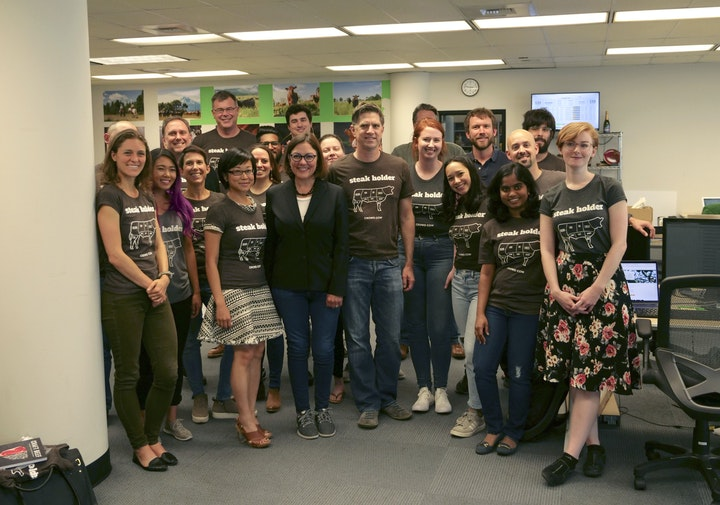 Rep. DelBene with the Crowd Cow team