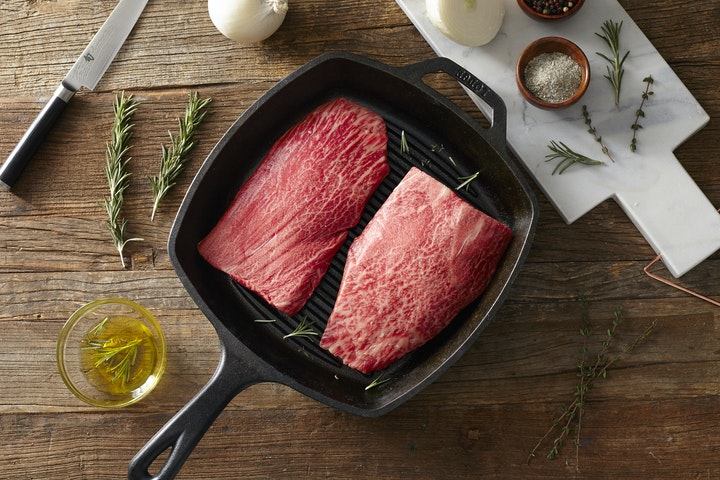 Raw Wagyu Flat Iron Steak