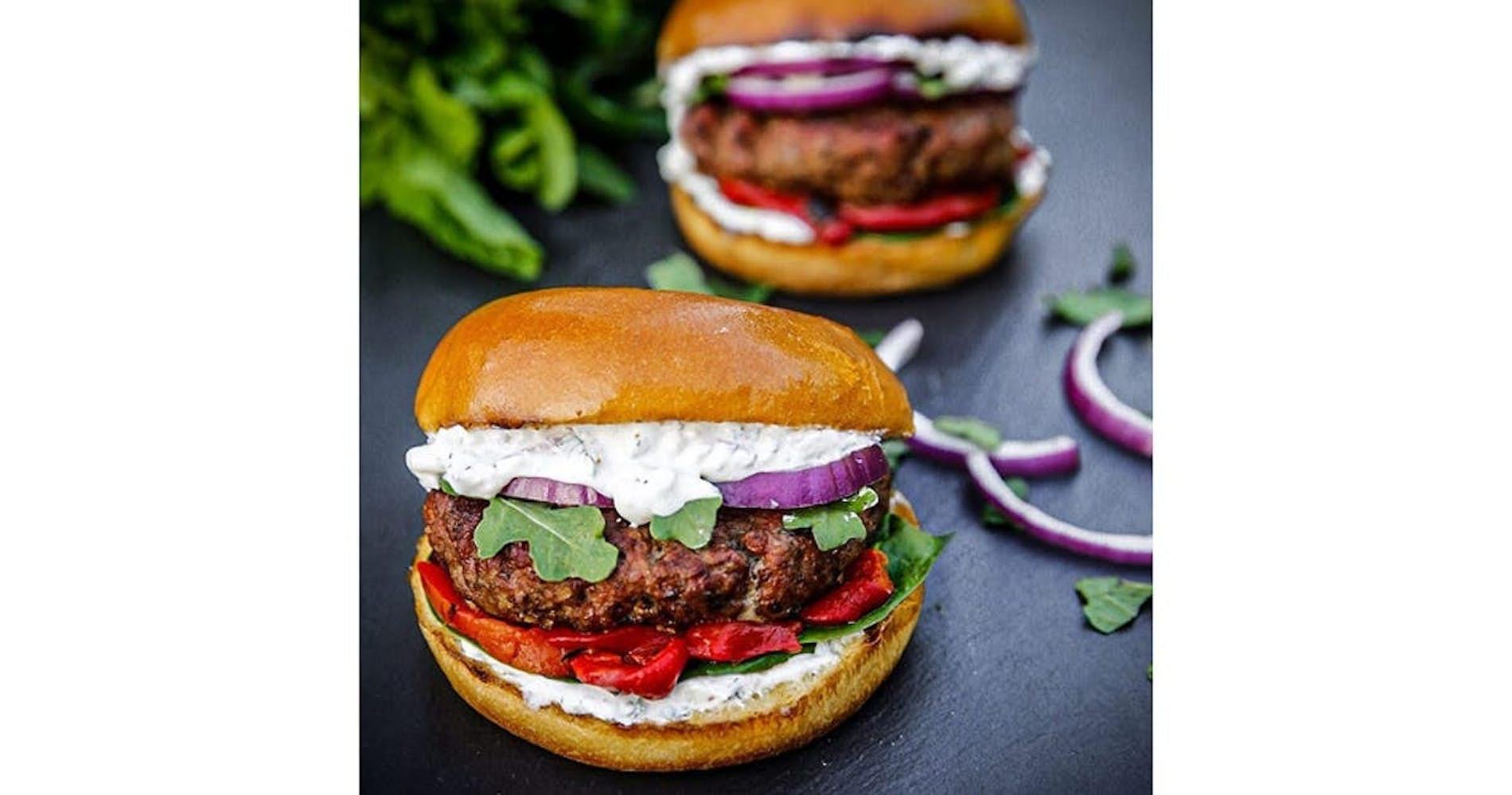 Greek Lamb Burgers with Tzatziki Sauce