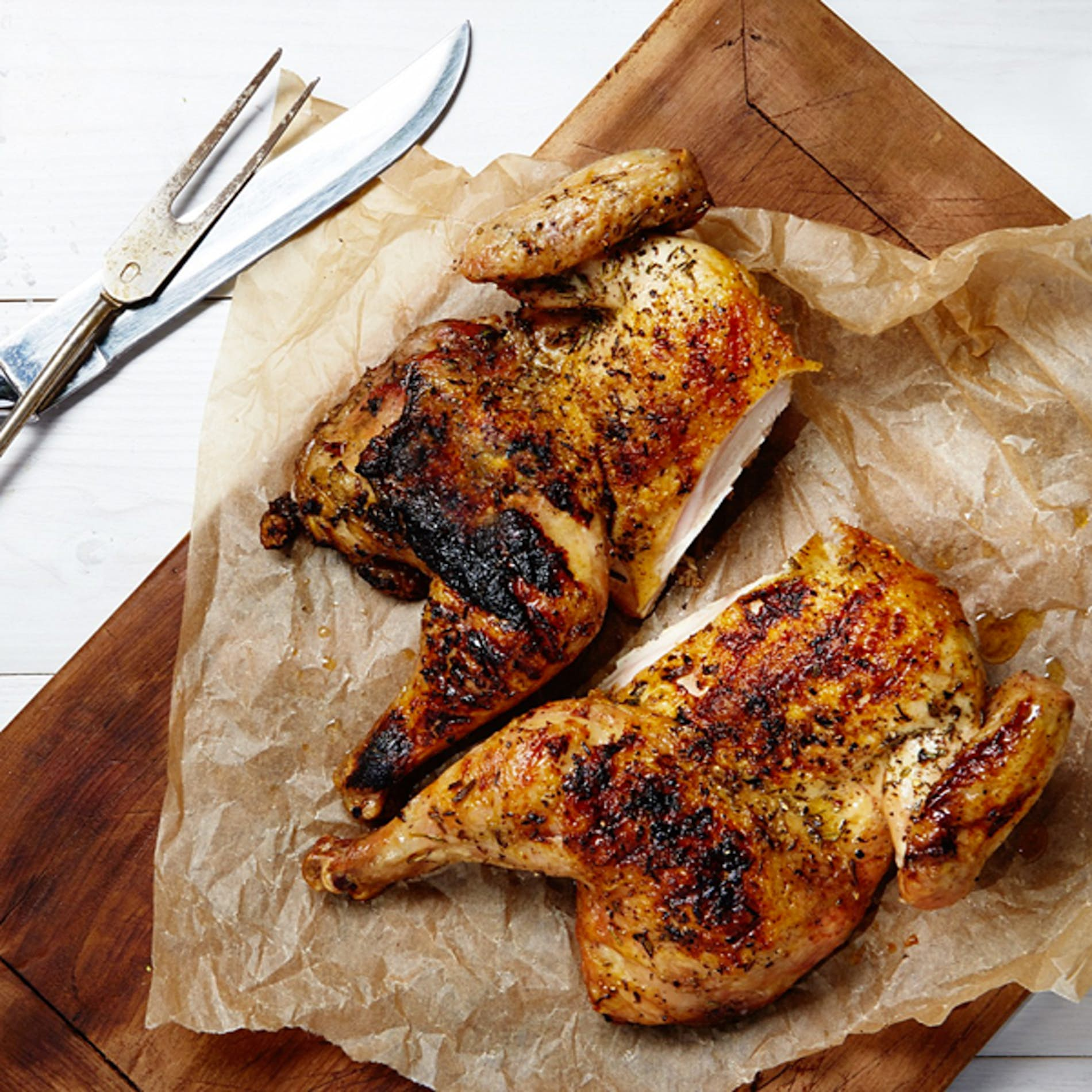 Smoky Paprika-Grilled Butterflied Chicken