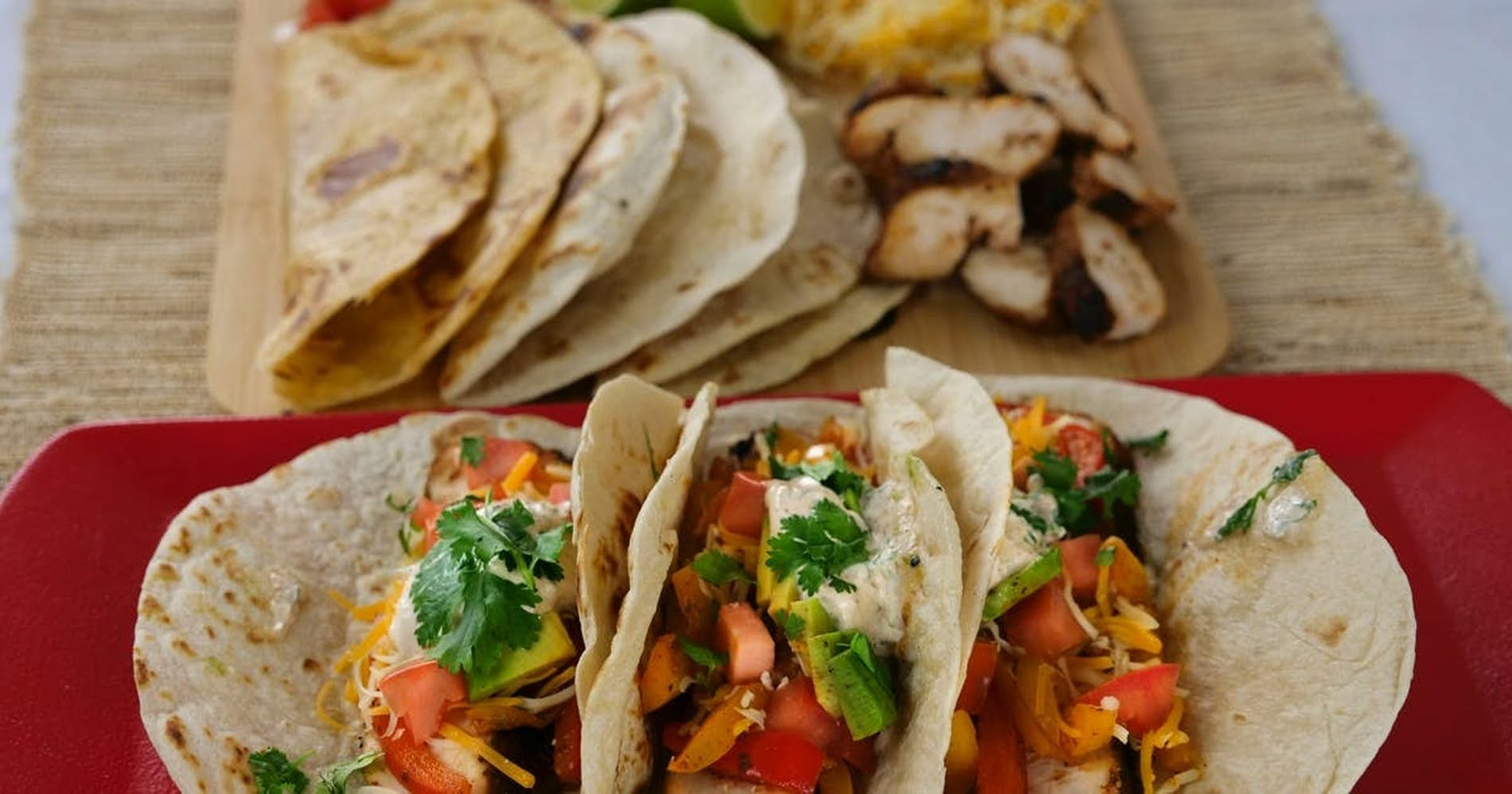 Spicy Chicken Fajitas with Chipotle Lime Crema