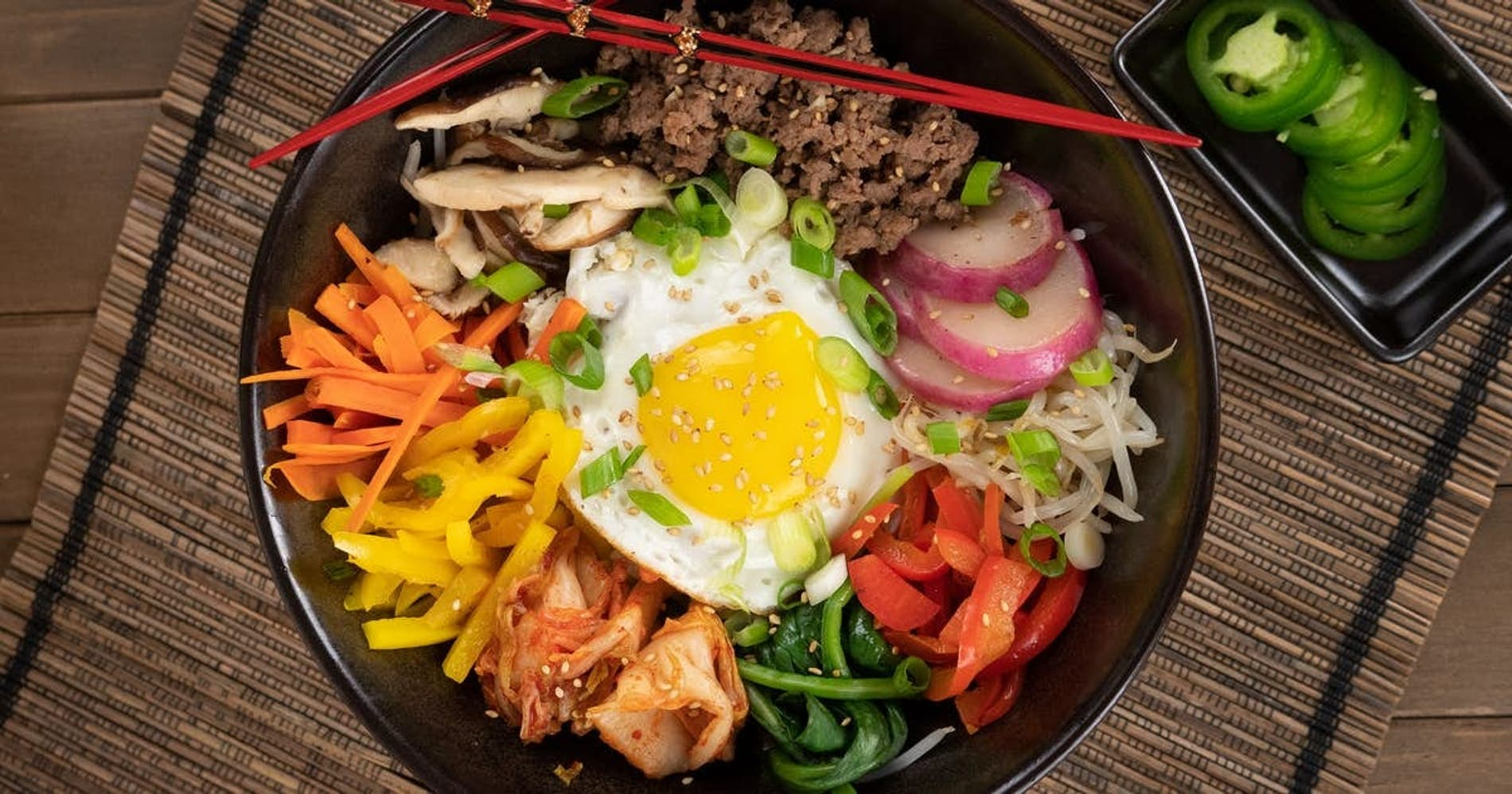 Ground Beef Korean Bibimbap