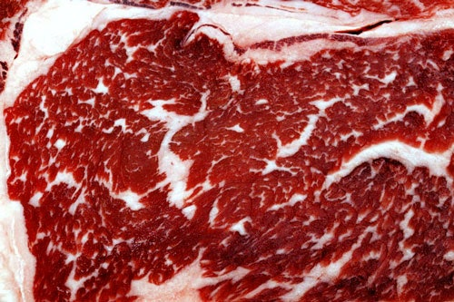 Marbling on meat